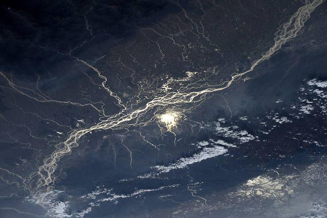 Earth seen from space by Thomas Pesquet: 3) The Brahmaputra