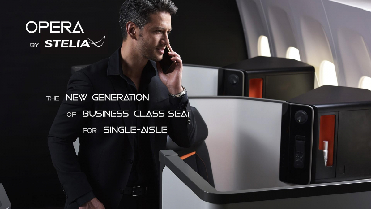 STELIA Aerospace launches 'OPERA', its new Business Class seat, offering outstanding long-range comfort on single-aisle
