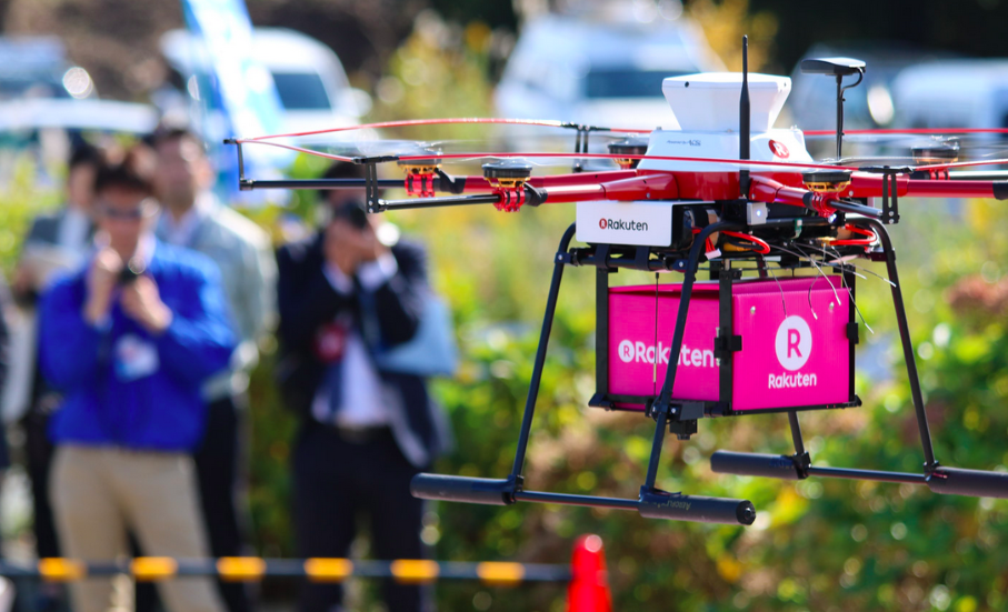Partnership between Rakuten and Seiyu for drone delivery