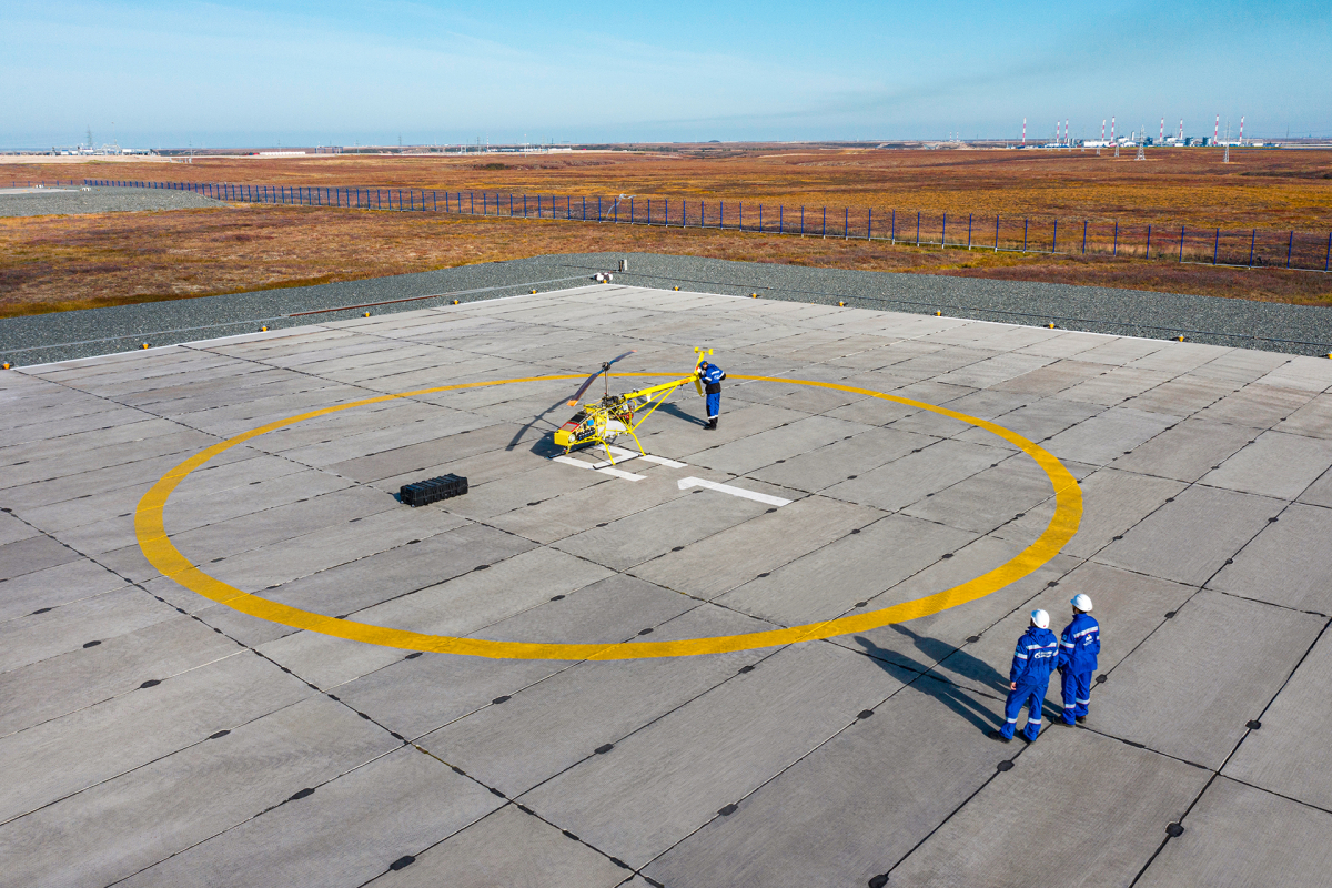 Gazprom tests an unmanned cargo helicopter