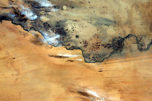 Earth seen from space by Thomas Pesquet: 11) The Nile
