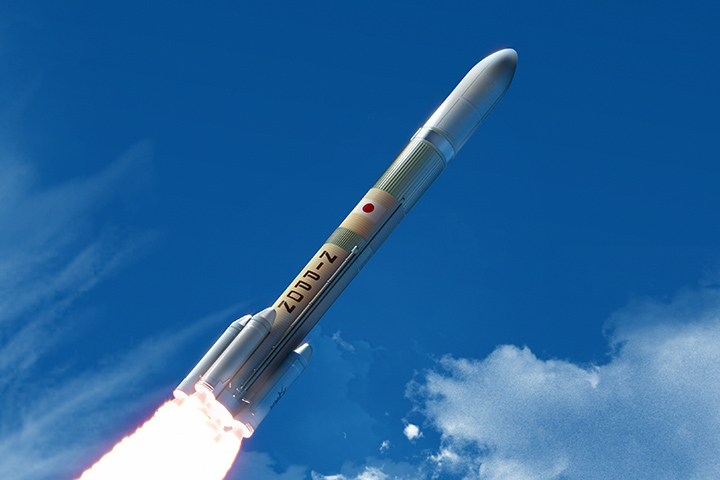 Braking action for the Japanese H3 launcher