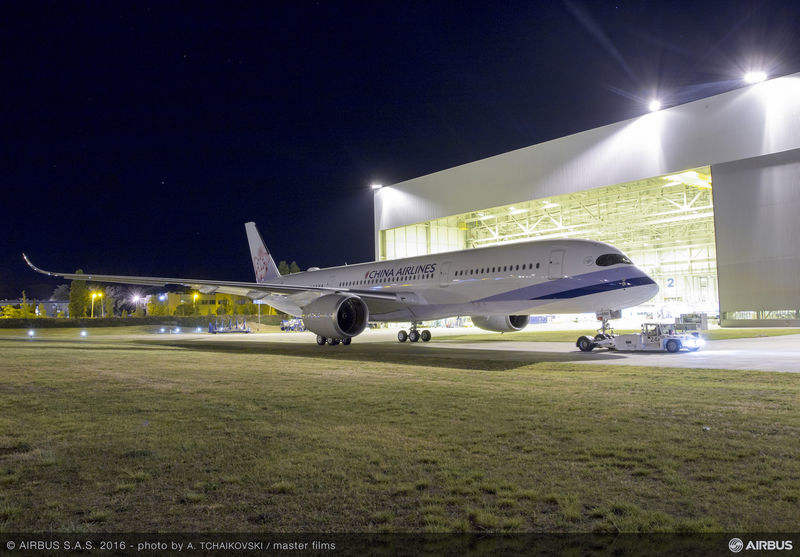 First China Airlines A350 set for flight testing