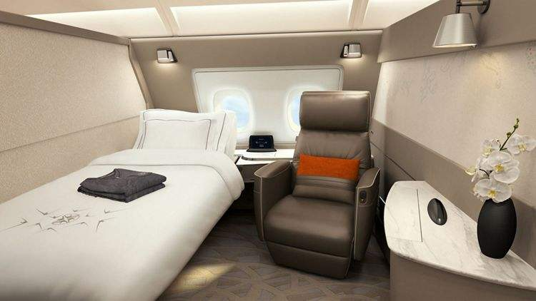 Singapore Airlines unveils new A380 cabin