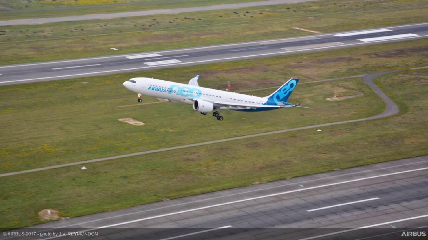 A330neo makes first flight