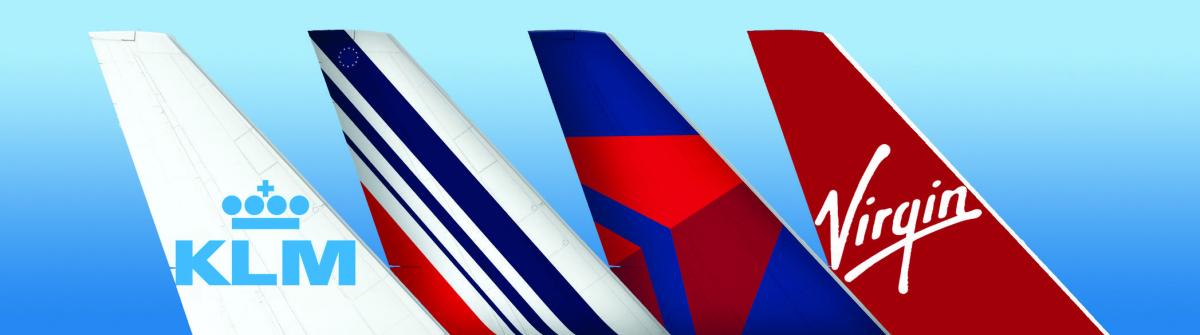 Air France, KLM, Delta and Virgin Atlantic together over Atlantic