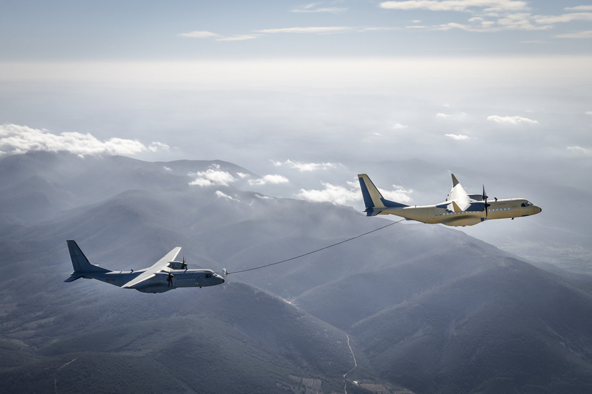 The Airbus C295 becomes a tanker aircraft