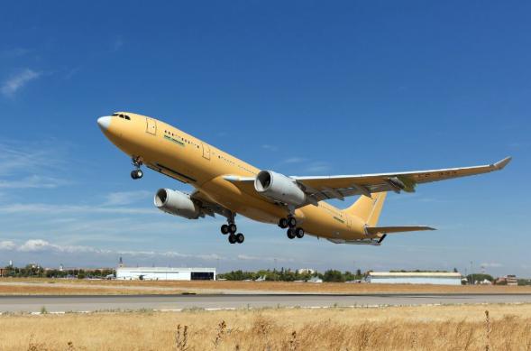 Enhanced A330 tanker completes maiden flight