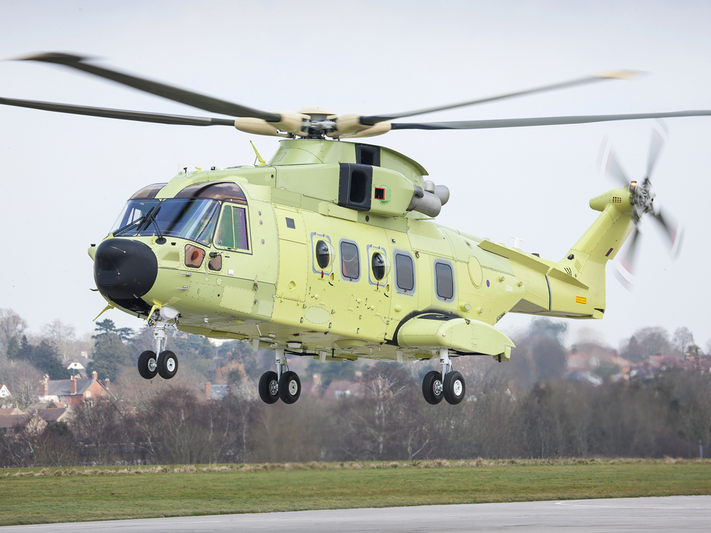First Norwegian AW101 makes maiden flight