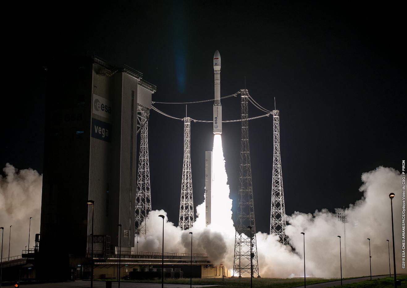 Arianespace launches Mohammed VI-B satellite on Vega