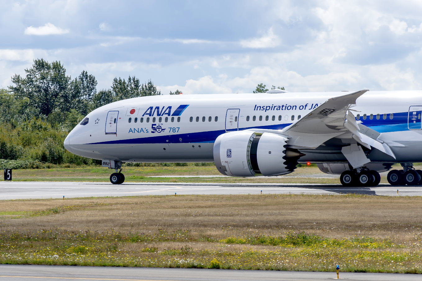 ANA receives 50th Boeing 787
