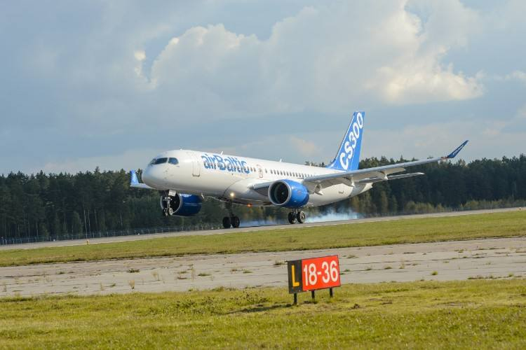 Bombardier C Series makes China debut