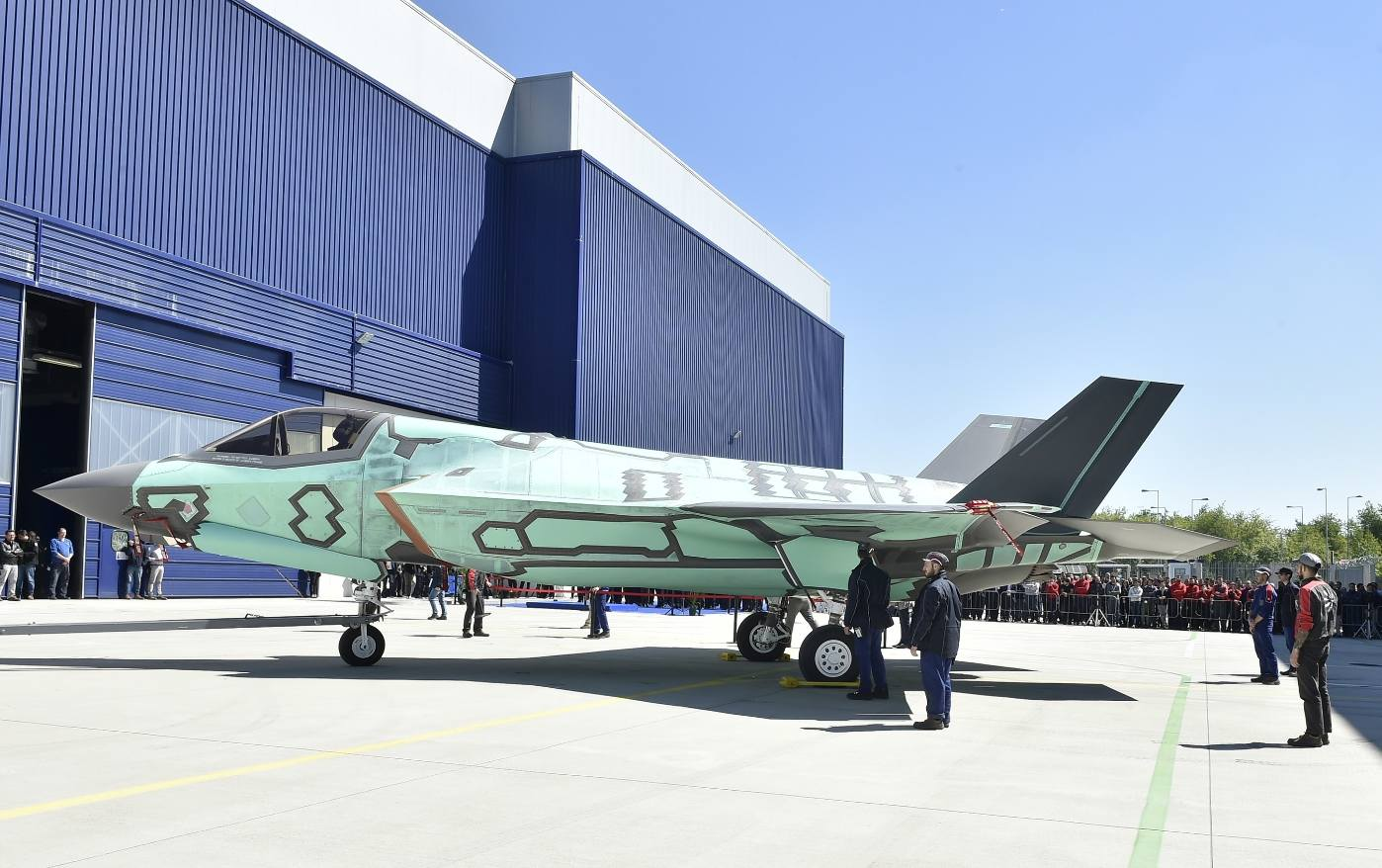 Roll-out of first Italian-built F-35B