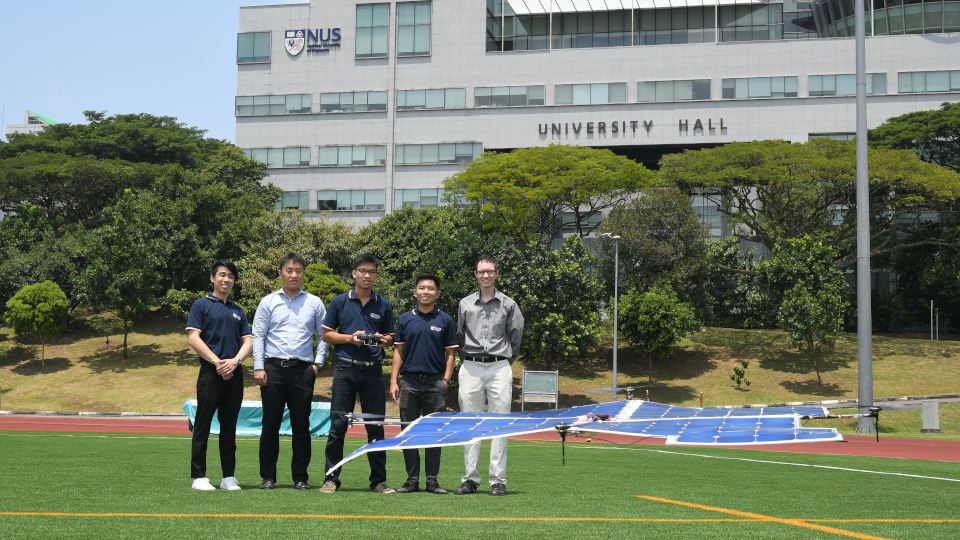 Singapore students fly solar-powered drone