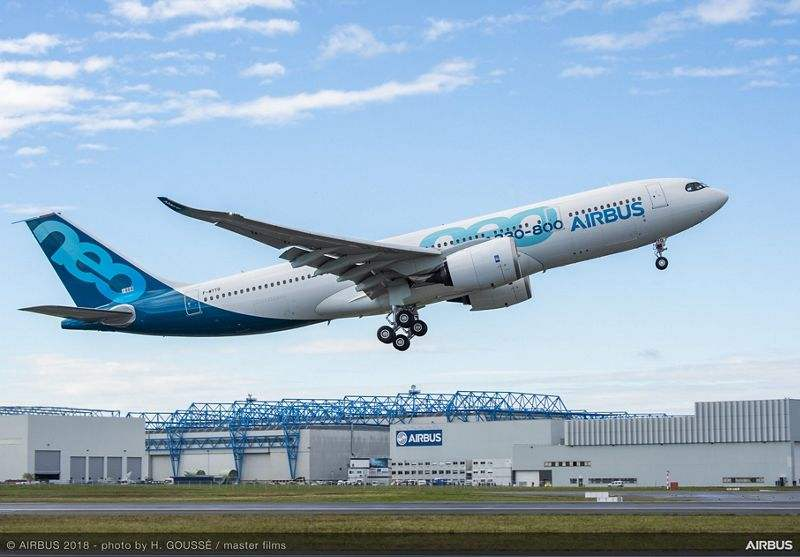 Airbus A330-800 makes first flight