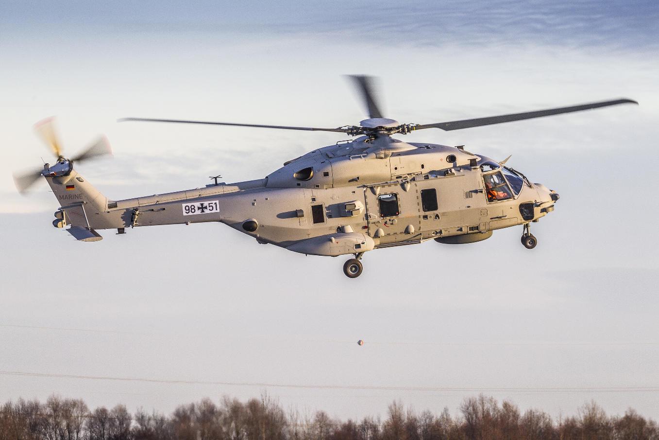 German Navy NH90 Sea Lion makes maiden flight