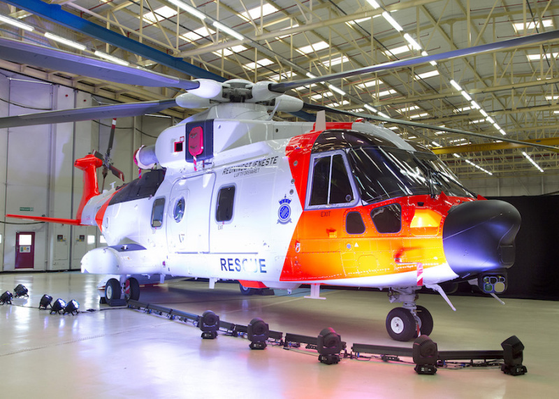 Leonardo-Finmeccanica unveils Norwegian AW101 rescue helicopter