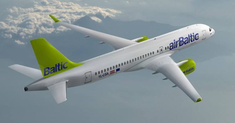 Bombardier delivers first CS300 to airBaltic