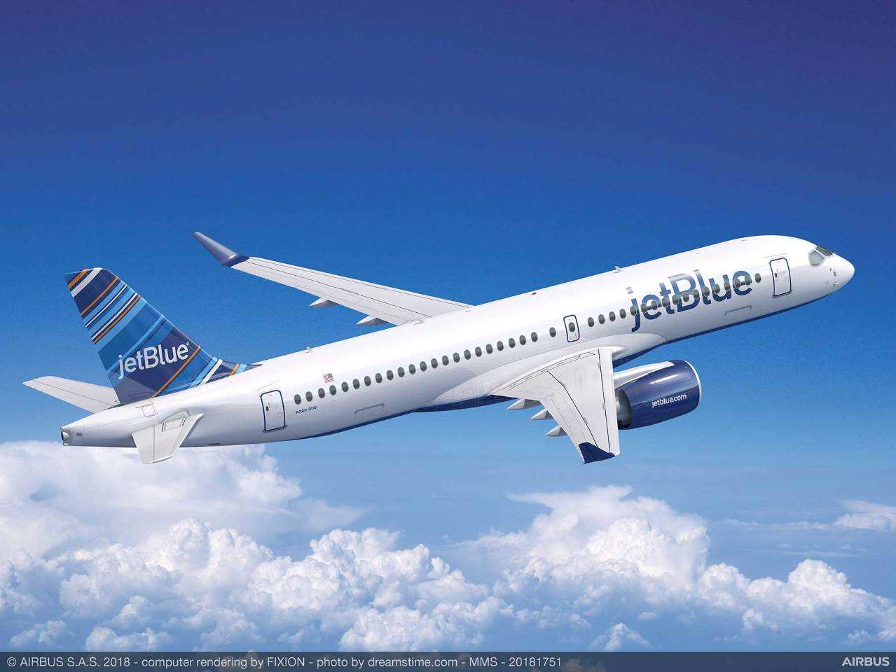 JetBlue selects Thales' AVANT IFE for its Airbus A220