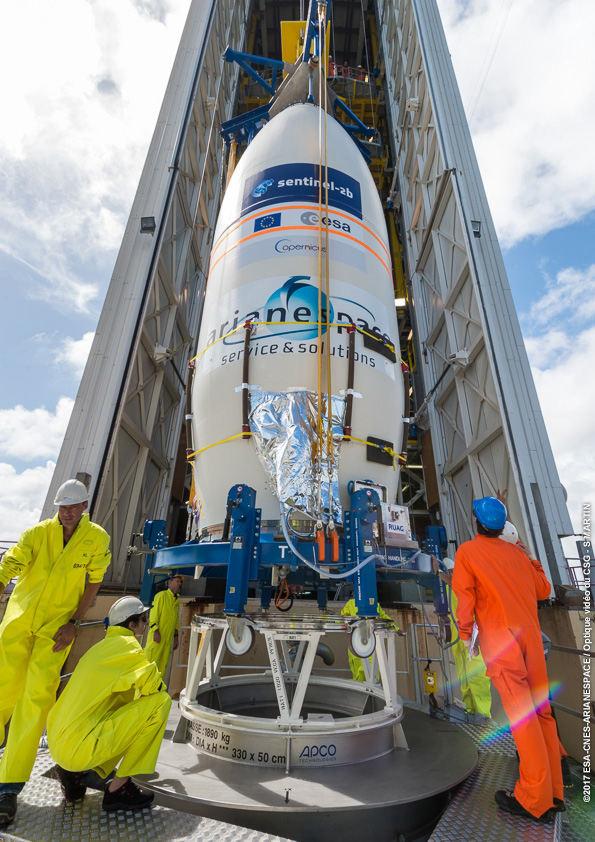 Arianespace prepares to launch Sentinel-2B
