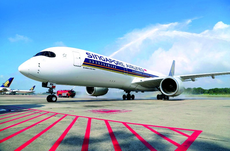 Singapore Airlines receives first A350
