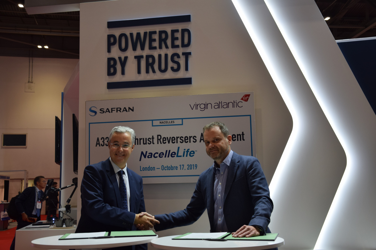 MRO Europe 2019: Safran Nacelles signs with Virgin Atlantic for A330ceo thrust reversers