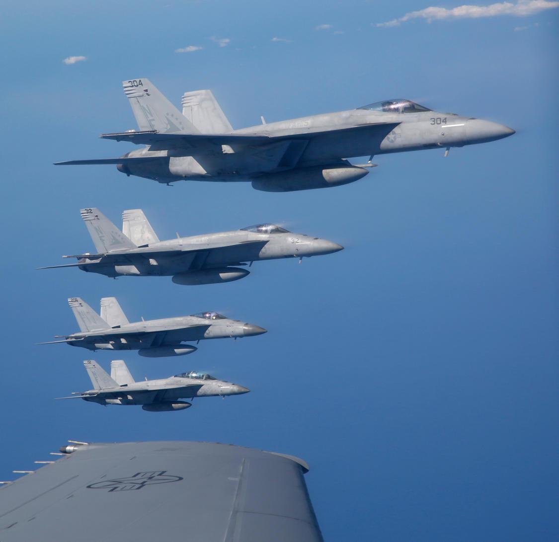Boeing F/A-18E/F Super Hornets.