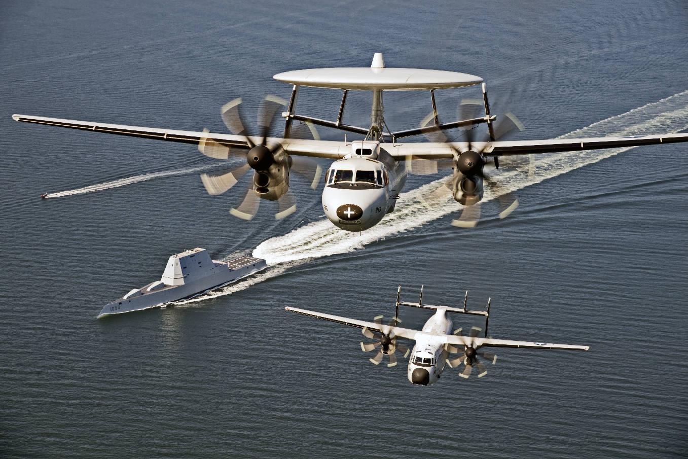 E-2D Advanced Hawkeye heading for Japan
