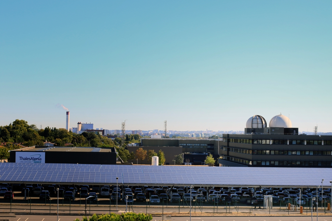 Thales Alenia Space's site in Toulouse generates green energy