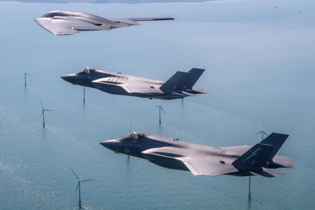 USAF's B-2 aircraft training in Europe