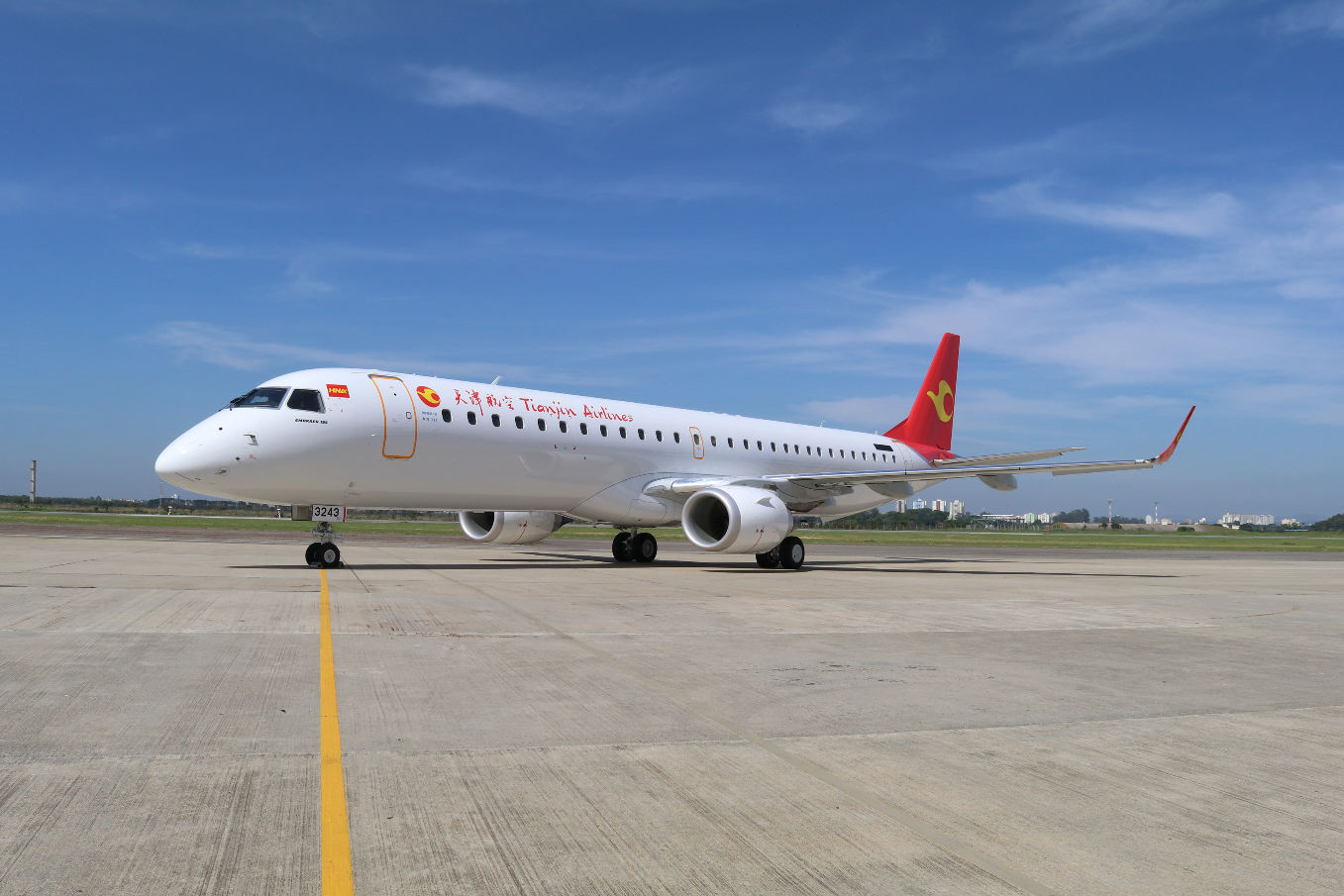 Embraer delivers 1,300th E-Jet to Tianjin Airlines