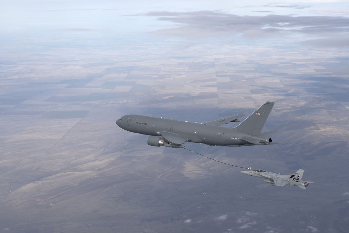 Boeing produces the first piece of the first KC-46A for Japan