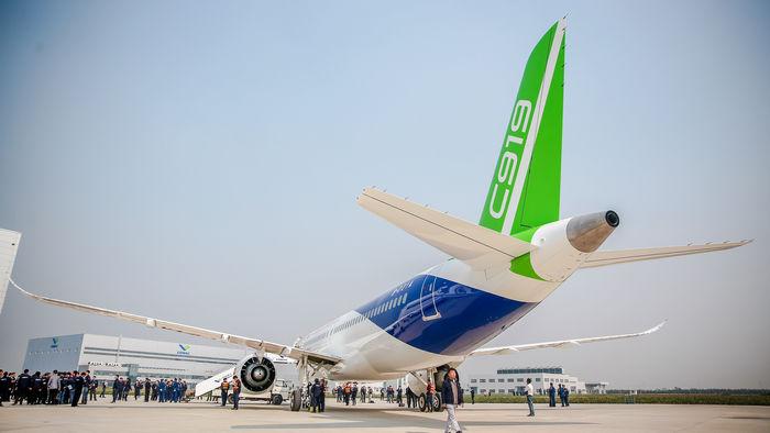 China's COMAC C919 makes first flight