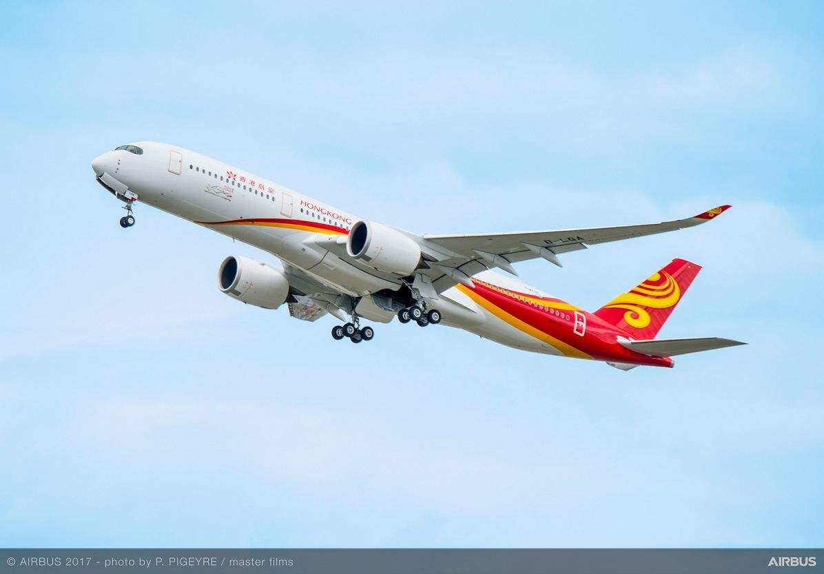 Hong Kong Airlines gets first A350