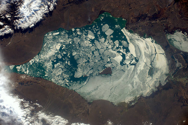 Earth seen from space by Thomas Pesquet: 12) Lake Alaköl