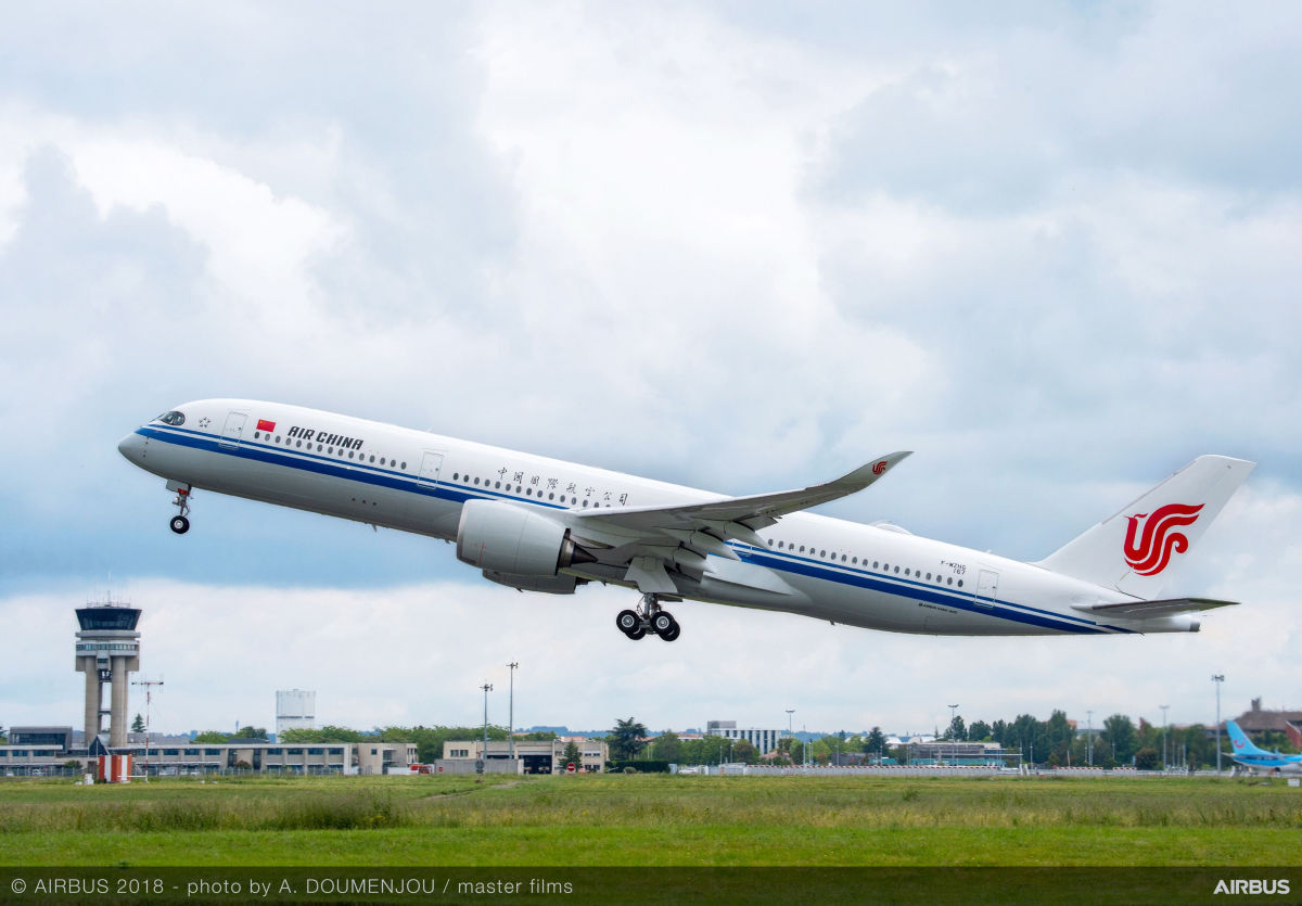 Air China orders 20 further Airbus A350