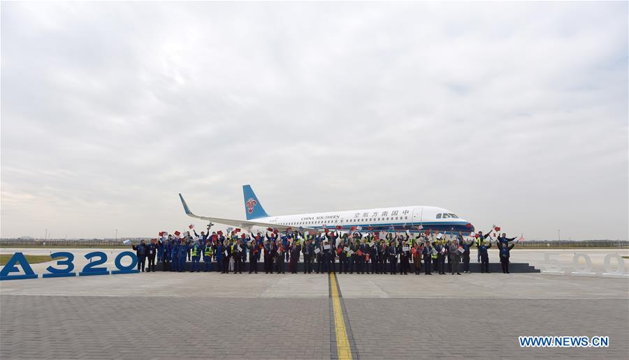 Tianjin delivers its 500th Airbus A320 Family aircraft