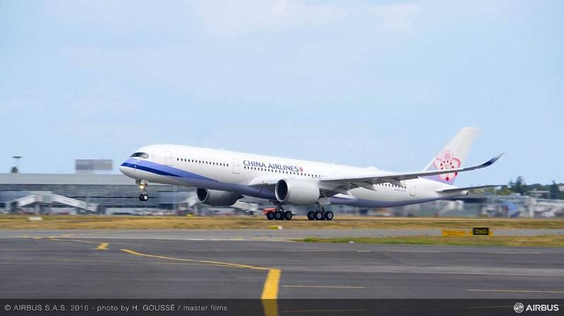China Airlines receives its first A350 XWB