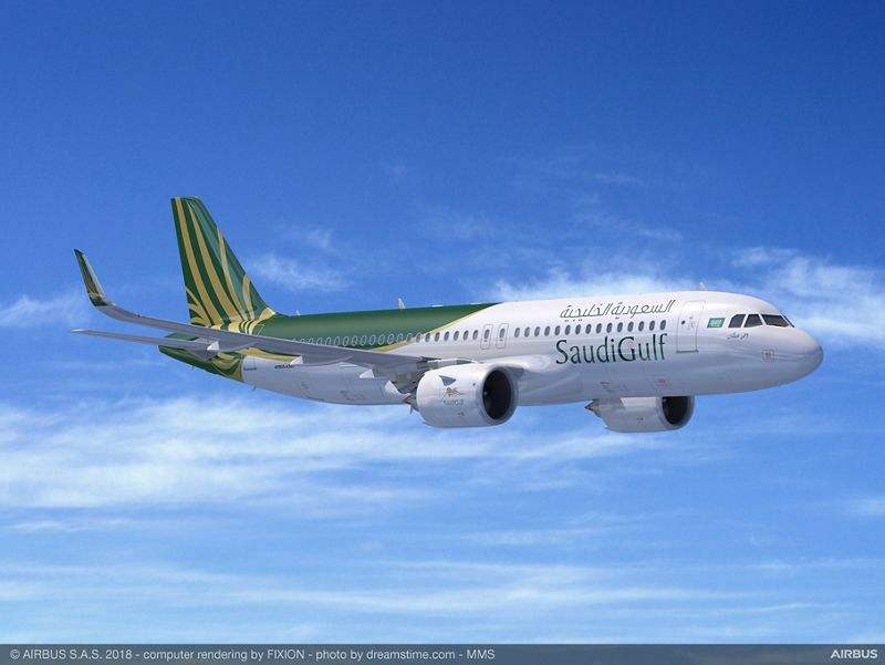 SaudiGulf Airlines orders 10 Airbus A320neos