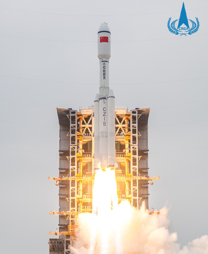 First flight of the new Chinese Long March 8 launcher