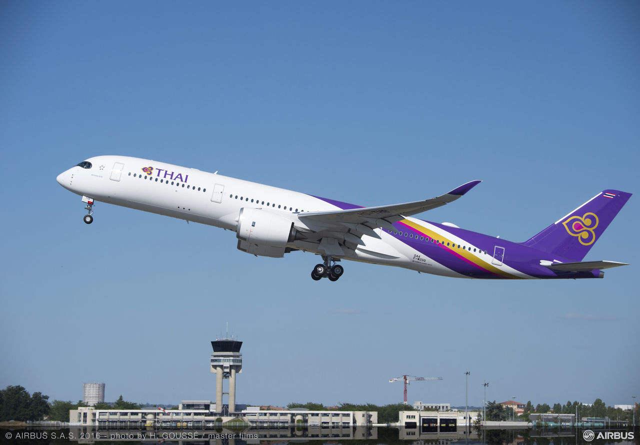 First A350 for Thai Airways