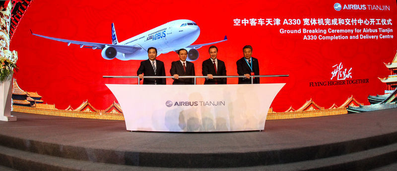 Construction starts on Tianjin A330 completion centre