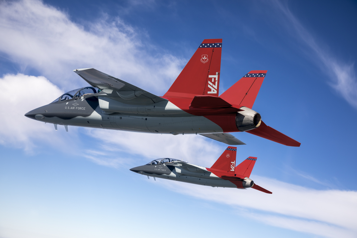Saab starts production of T-7A's aft