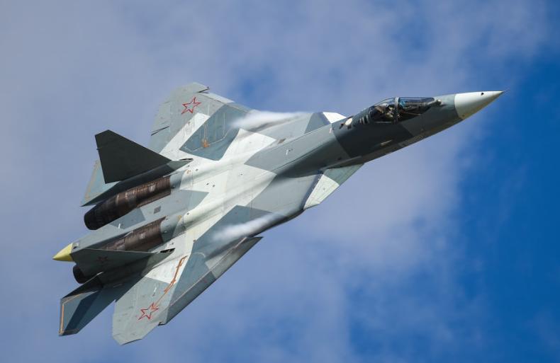 Crash of a Su-57