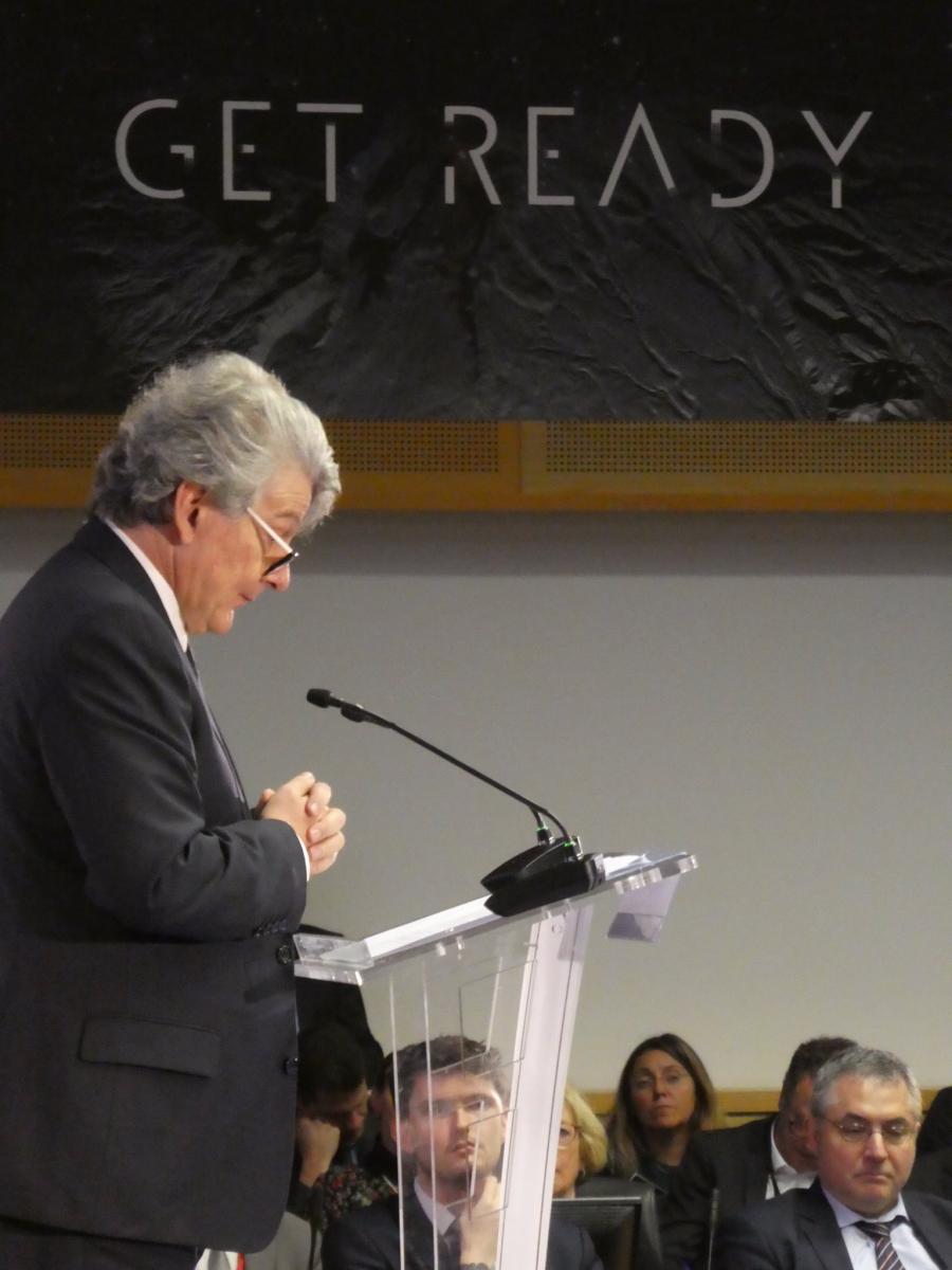 Thierry Breton addresses the European space community