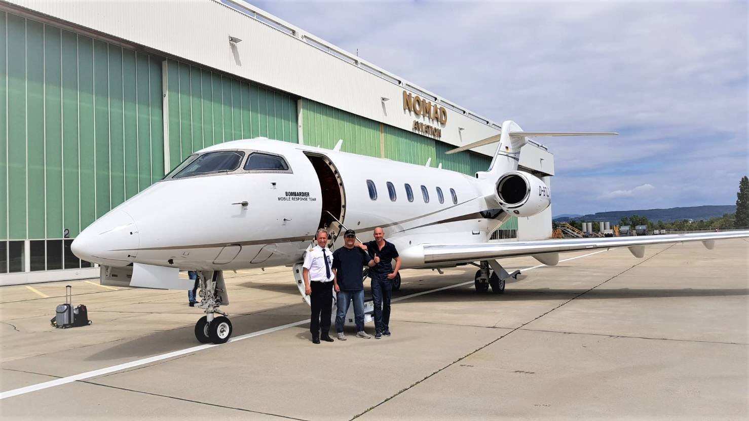 Nomad Technics provides AOG support to a Bombardier CL650