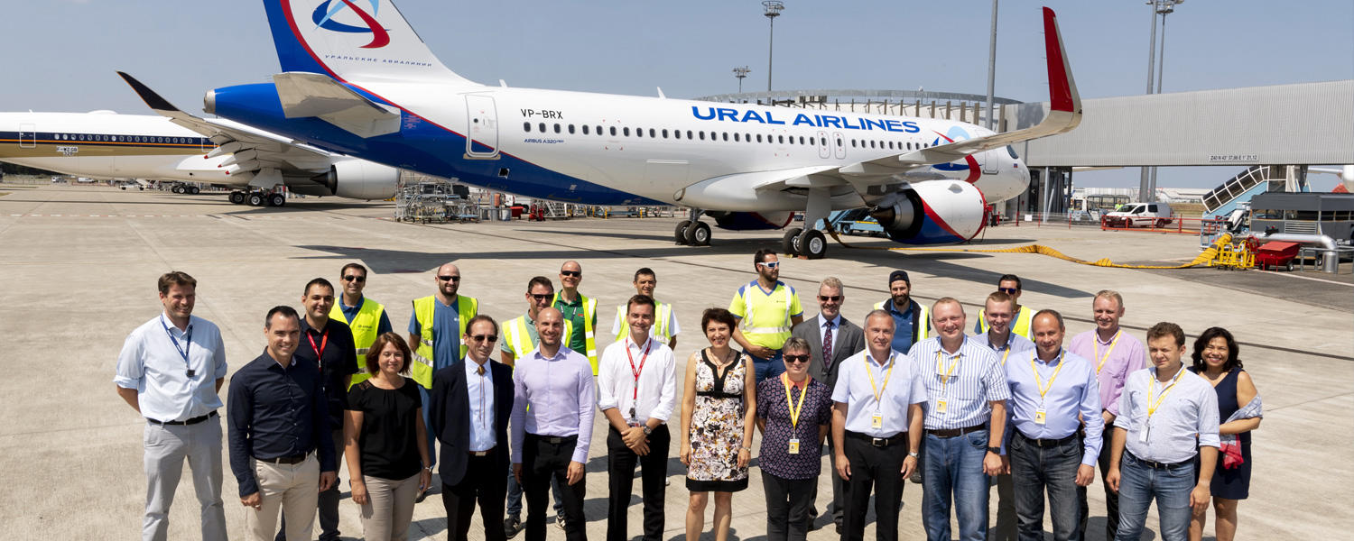 Ural Airlines takes delivery of a first Airbus A320neo
