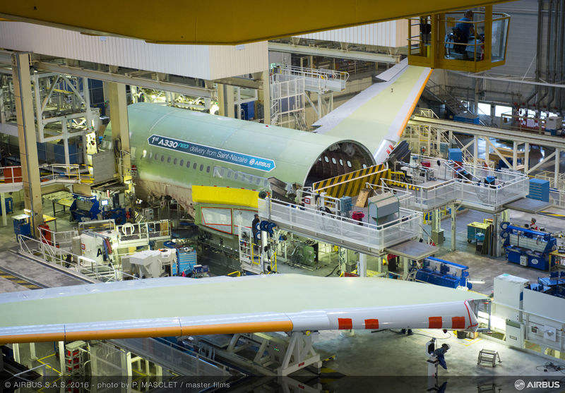 First Airbus A330neo starts final assembly