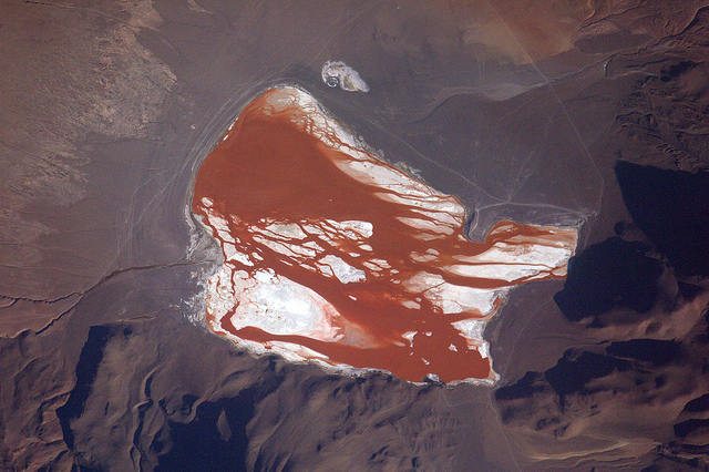 Earth seen from space by Thomas Pesquet: 13) Laguna Colorada
