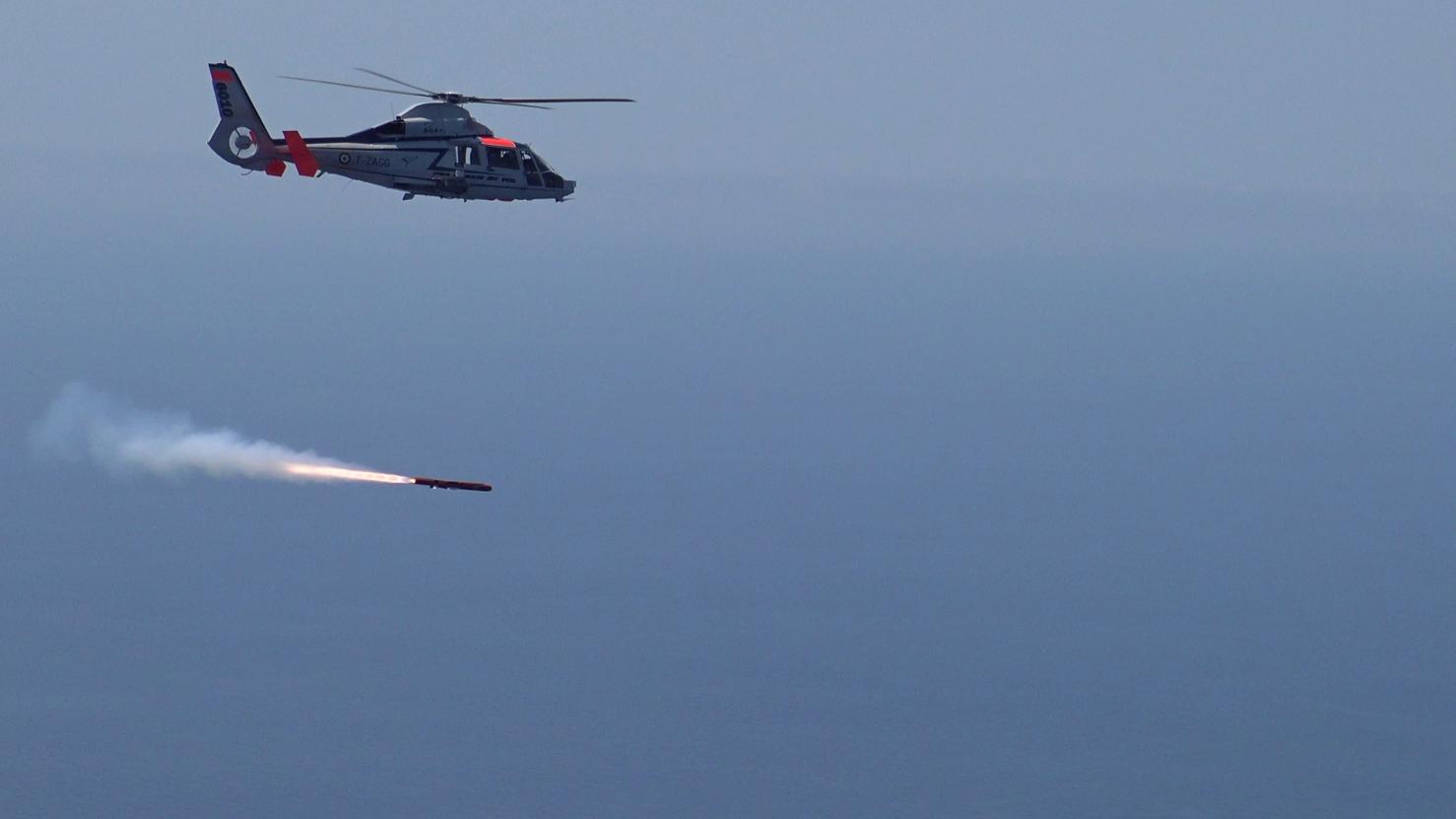 Third test firing for MBDA Sea Venom missile